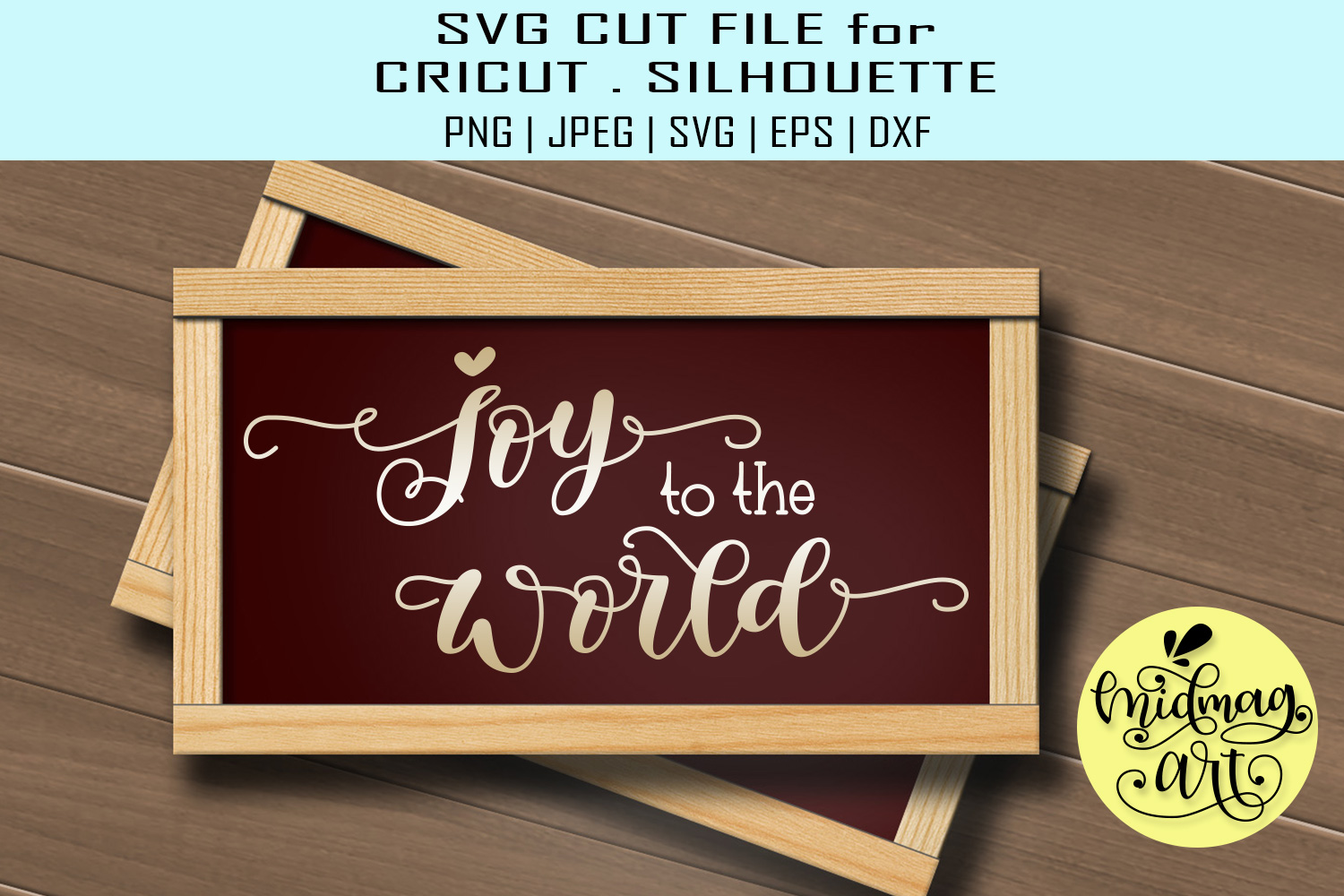 Download Free Joy To The World Graphic By Midmagart Creative Fabrica for Cricut Explore, Silhouette and other cutting machines.