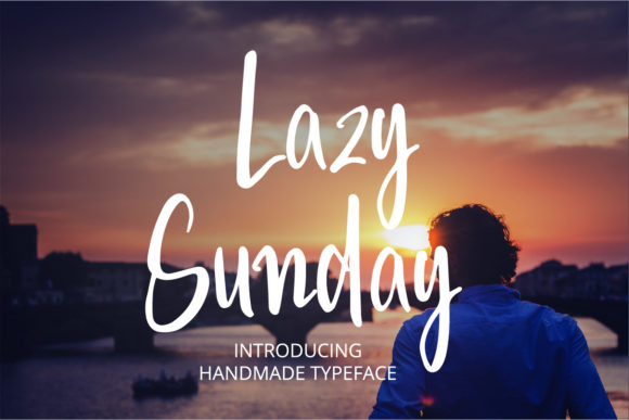 Print on Demand: Lazy Sunday Script & Handwritten Font By BitongType