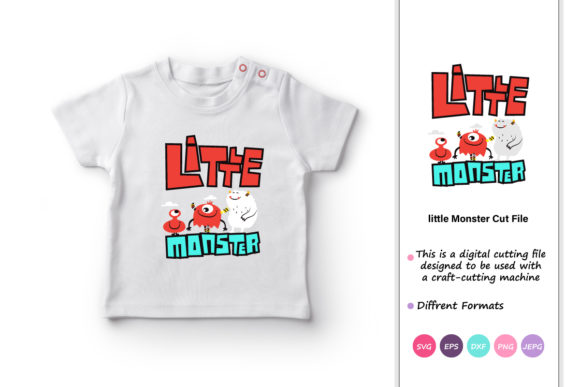 Print on Demand: Little Monster Graphic Crafts By iprintasty