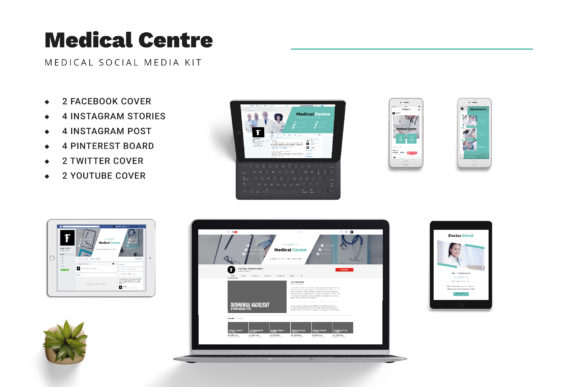 Download Free Medical Centre Social Media Kit Graphic By Formatikastd Creative Fabrica for Cricut Explore, Silhouette and other cutting machines.
