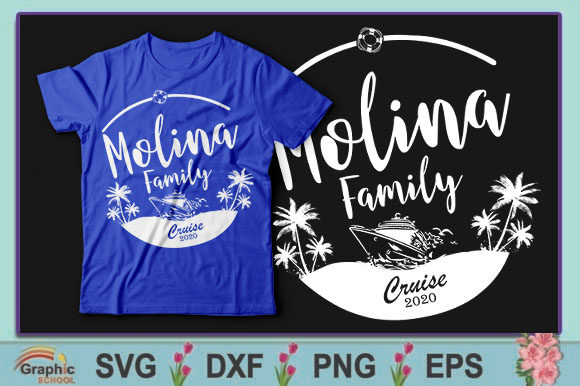 Download Free Molina Family Cruise 2020 Graphic By Graphic School Creative for Cricut Explore, Silhouette and other cutting machines.