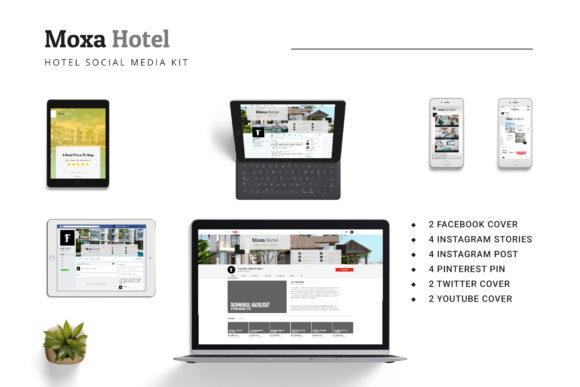 Download Free Moxa Hotel Social Media Kit Graphic By Formatikastd Creative Fabrica for Cricut Explore, Silhouette and other cutting machines.