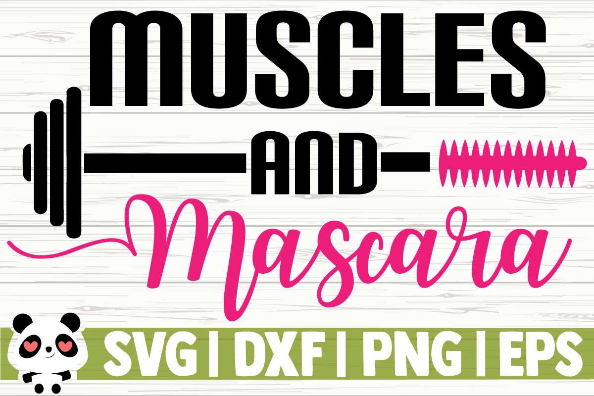 Download Free Muscles And Mascara Graphic By Creativedesignsllc Creative Fabrica for Cricut Explore, Silhouette and other cutting machines.