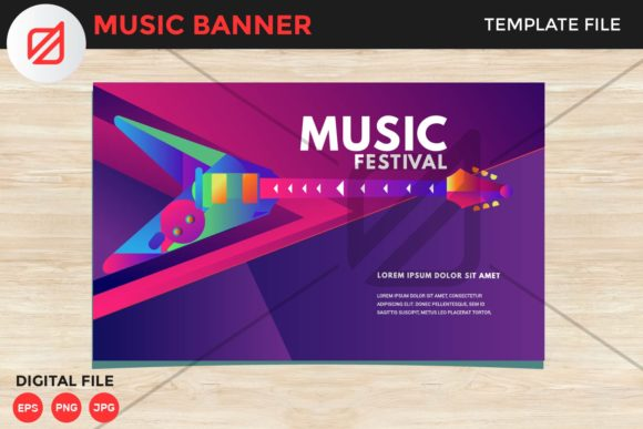 Print on Demand: Music Rock Festival Flyer Template V3 Graphic Print Templates By illusatrian