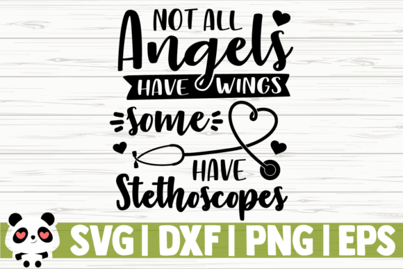 Download Free Not All Angels Have Wings Some Have Graphic By for Cricut Explore, Silhouette and other cutting machines.