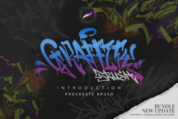 Procreate Graffiti Brush Graphic Brushes By flow_envision