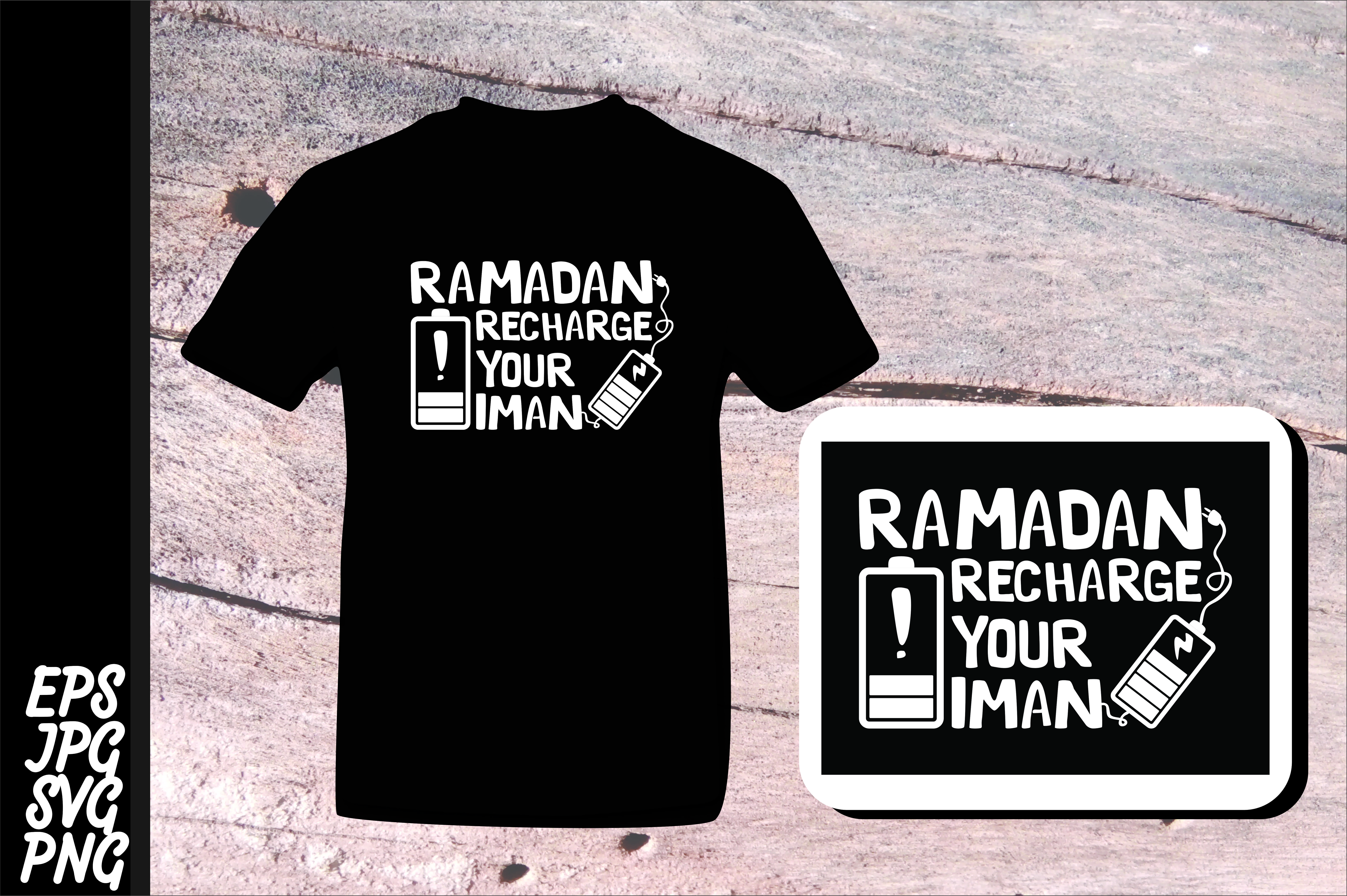 Download Free Ramadan Recharge Your Iman Graphic By Arsa Adjie Creative Fabrica for Cricut Explore, Silhouette and other cutting machines.