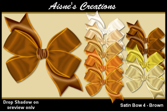 Print on Demand: Satin Bow 4 - Brown Graphic Objects By Aisne
