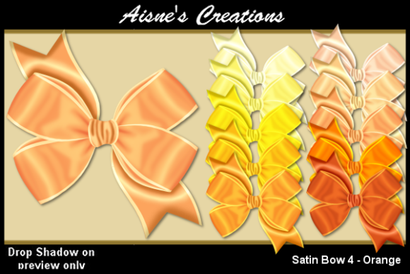 Print on Demand: Satin Bow 4 - Orange Graphic Objects By Aisne