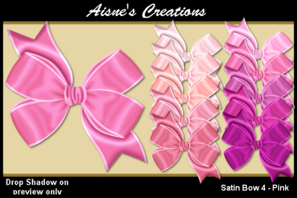 Print on Demand: Satin Bow 4 - Pink Graphic Objects By Aisne