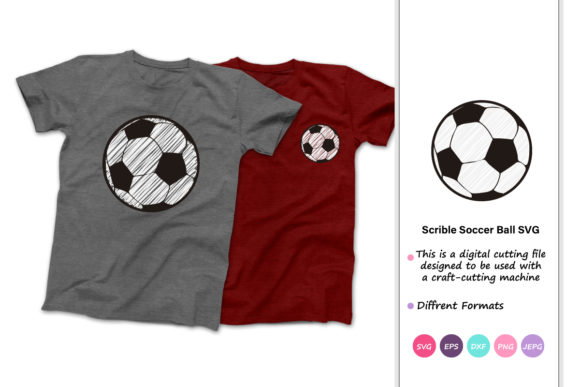 Print on Demand: Scribble Soccer Ball Graphic Crafts By iprintasty