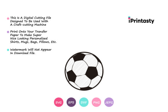Download Free Scribble Soccer Ball Graphic By Iprintasty Creative Fabrica for Cricut Explore, Silhouette and other cutting machines.