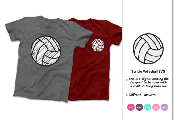 Print on Demand: Scribble Volleyball Graphic Crafts By iprintasty