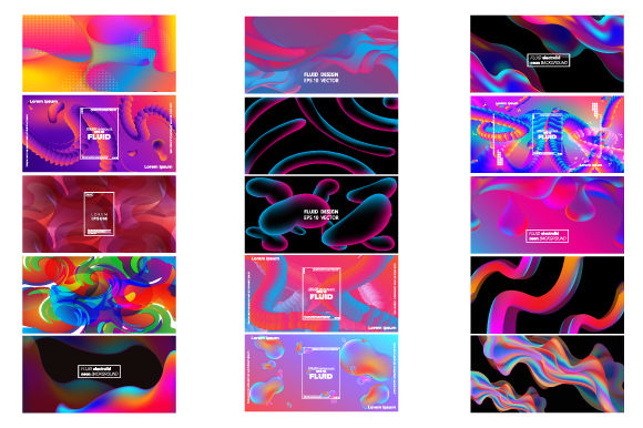 Print on Demand: Set of Modern Abstract Banners. Graphic Backgrounds By iop_micro