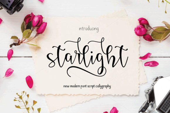 Print on Demand: Starlight Script & Handwritten Font By MYdesign - Image 1