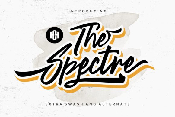 Print on Demand: The Spectre Display Font By HansCo