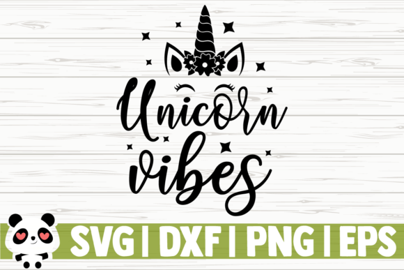 Print on Demand: Unicorn Vibes Graphic Illustrations By CreativeDesignsLLC