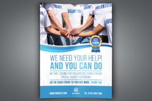 Print on Demand: Volunteer Charity Flyer Template Graphic Print Templates By OWPictures