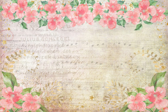 Print on Demand: Watercolour Peach Blossom Backgrounds Graphic Backgrounds By The Paper Princess - Image 2