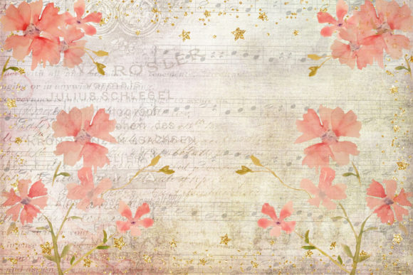 Print on Demand: Watercolour Peach Blossom Backgrounds Graphic Backgrounds By The Paper Princess - Image 5