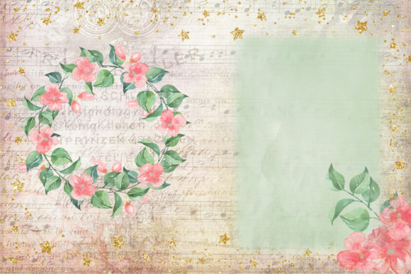 Print on Demand: Watercolour Peach Blossom Backgrounds Graphic Backgrounds By The Paper Princess - Image 6