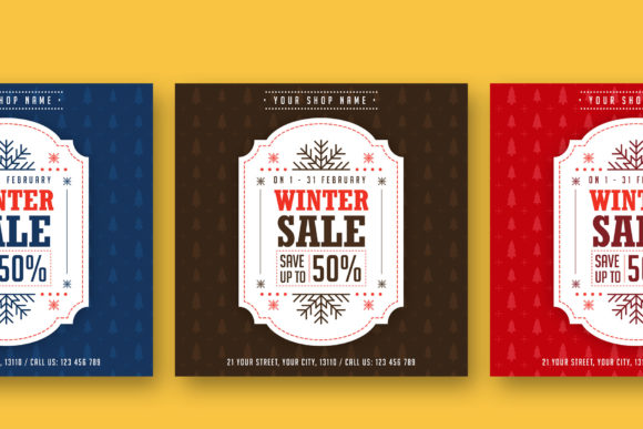 Print on Demand: Winter Sale Instagram Banner Graphic Web Templates By RafozFarzo