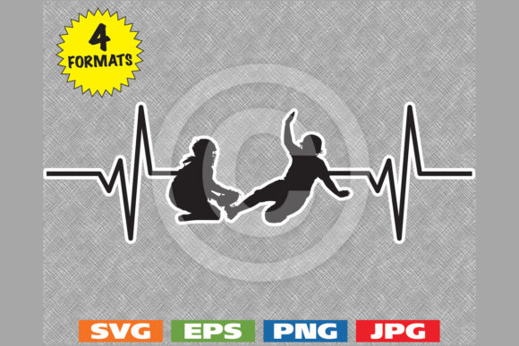 Download Free Women S Girl S Softball Heartbeat Graphic By Idrawsilhouettes for Cricut Explore, Silhouette and other cutting machines.