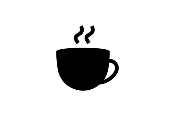 Download Free Cup Of Coffee Glyph Vector Icon Graphic By Riduwan Molla for Cricut Explore, Silhouette and other cutting machines.