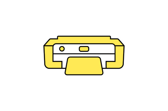Printer Liner Fill Icon Vector Graphic By Riduwan Molla