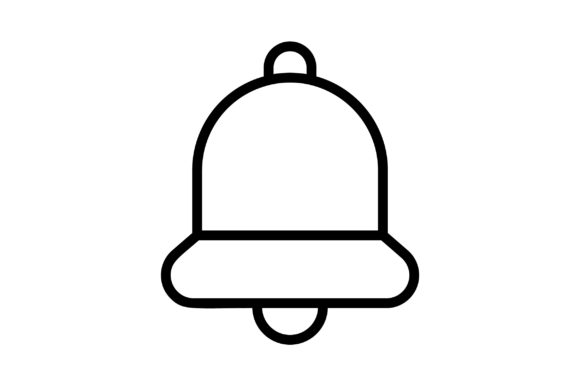 Download Free Ring Bell Line Art Vector Icon Graphic By Riduwan Molla for Cricut Explore, Silhouette and other cutting machines.