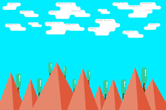 Print on Demand: Simple Modern Mountain Background Graphic Backgrounds By noory.shopper