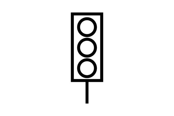 Download Free Traffic Light Line Art Vector Icon Graphic By Riduwan Molla for Cricut Explore, Silhouette and other cutting machines.