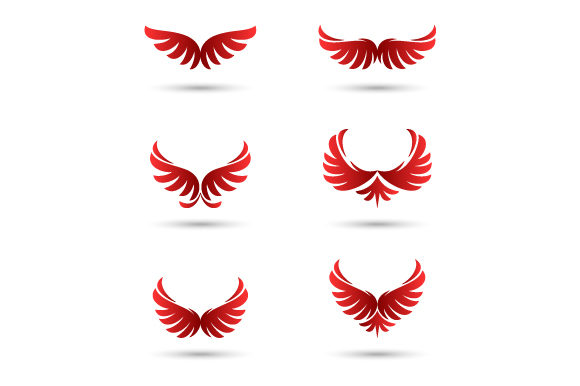 Download Free Vector Wings Logo Collection Graphic By Hartgraphic Creative for Cricut Explore, Silhouette and other cutting machines.