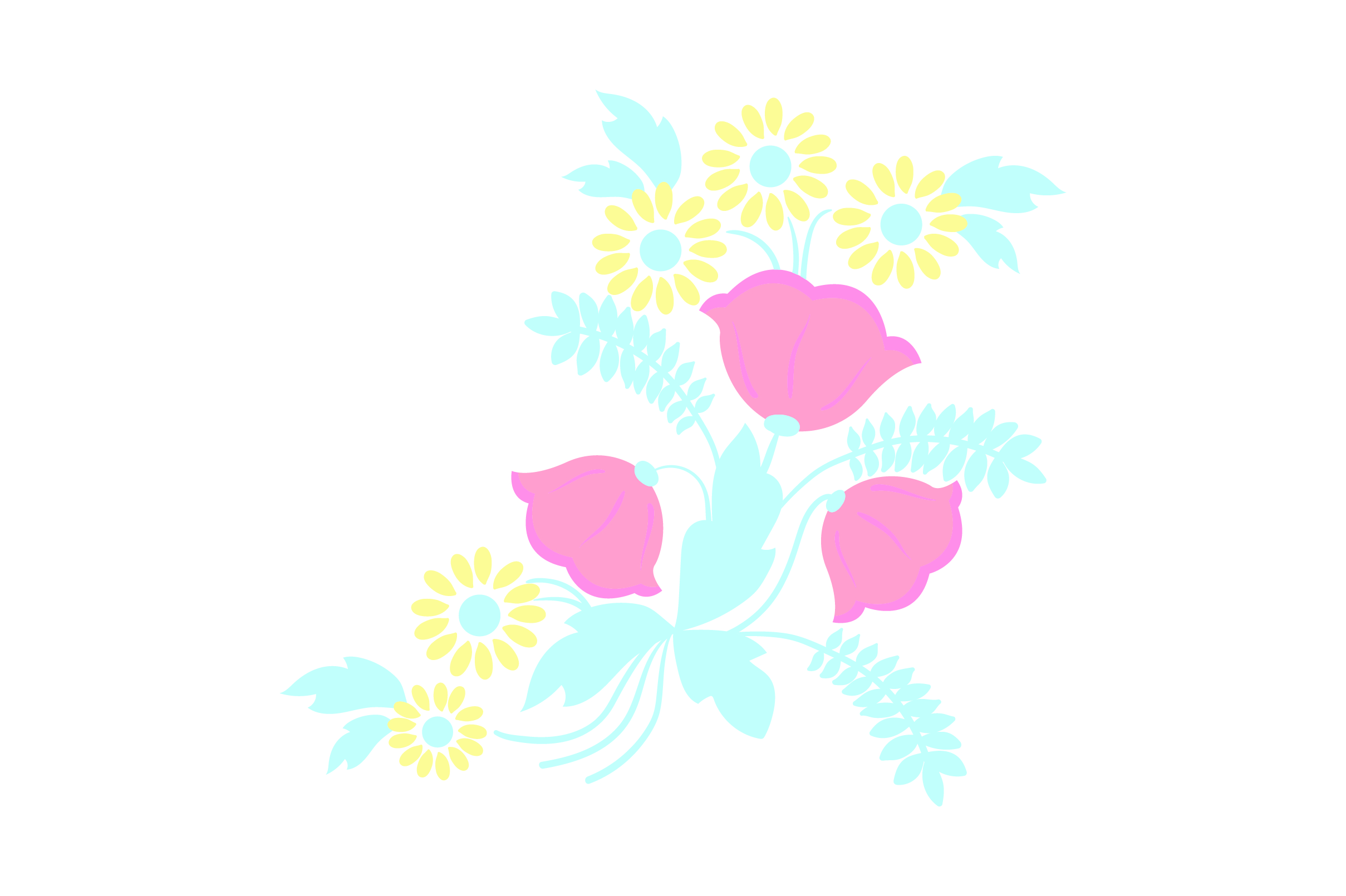 Download Free Colorful Flowers Embellishment Light Colors Svg Cut File By for Cricut Explore, Silhouette and other cutting machines.