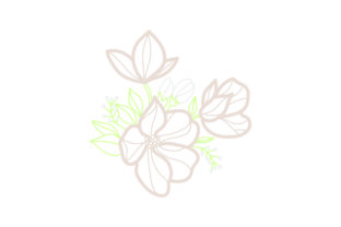 Flower Embellishment  Design Outline - Light Colors Spring Craft Cut File By Creative Fabrica Crafts