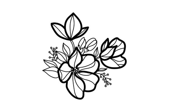 Flower Embellishment  Design Outline - Light Colors Spring Craft Cut File By Creative Fabrica Crafts - Image 2