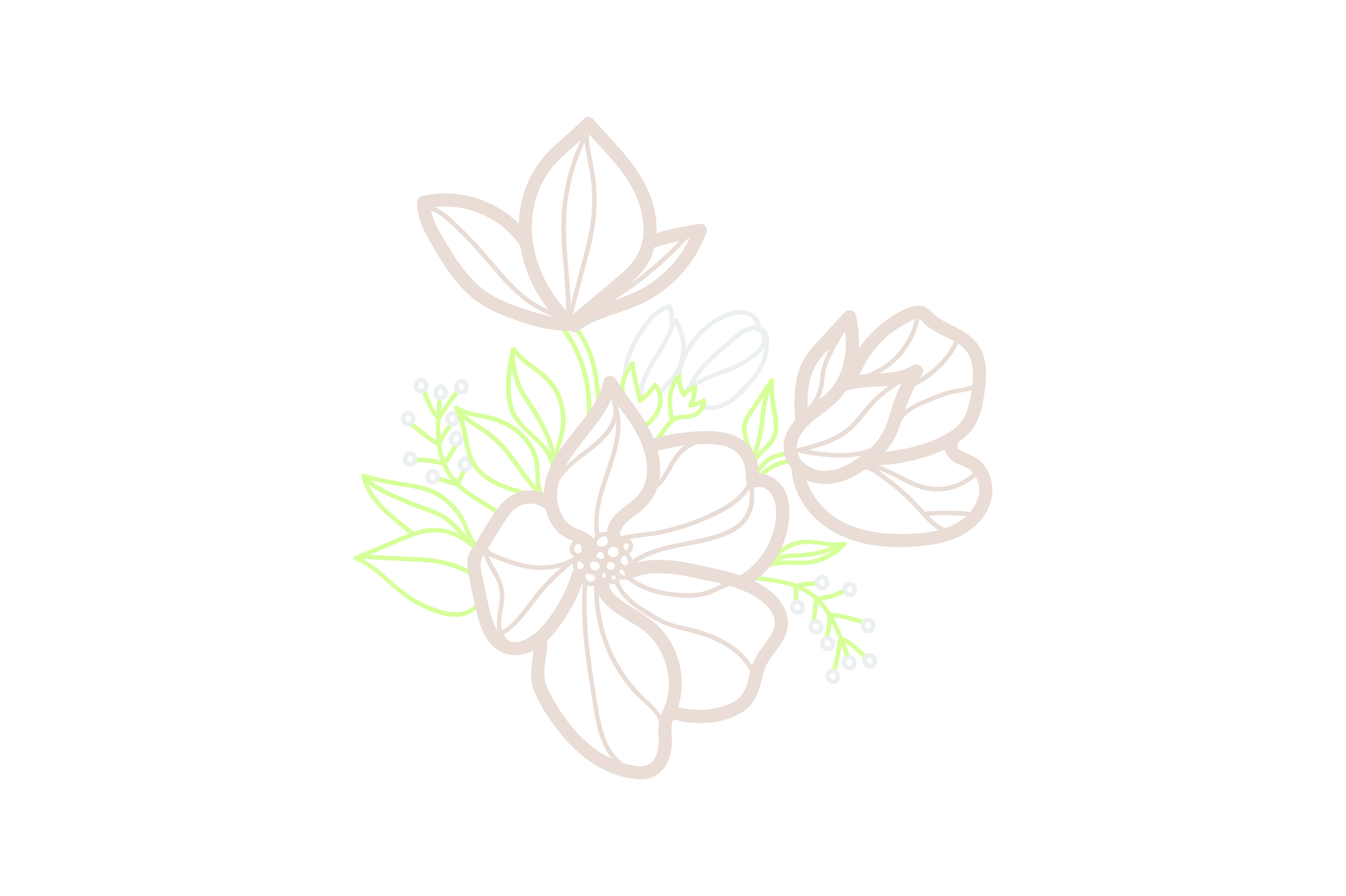 Download Free Flower Embellishment Design Outline Light Colors Svg Cut File for Cricut Explore, Silhouette and other cutting machines.