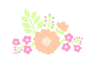 Flower Embellishment - Light Colors Spring Craft Cut File By Creative Fabrica Crafts