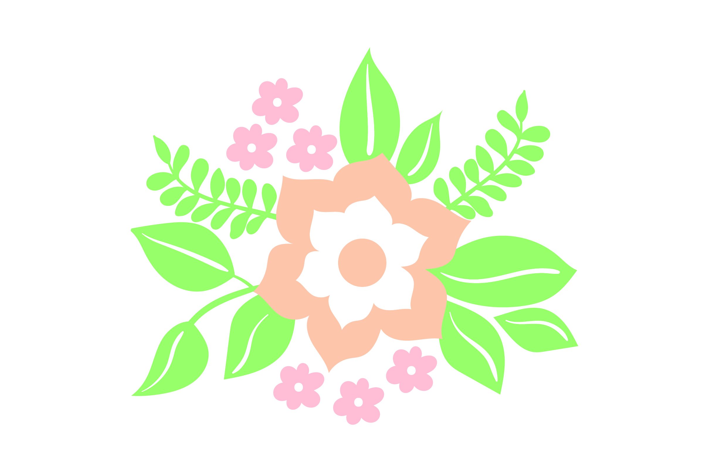 Download Free Flower Embellishment Design Light Colors Svg Cut File By for Cricut Explore, Silhouette and other cutting machines.