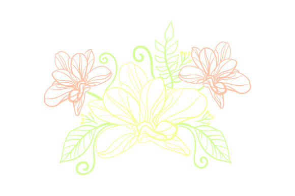 Flower Embellishment Outline - Light Colors Spring Craft Cut File By Creative Fabrica Crafts