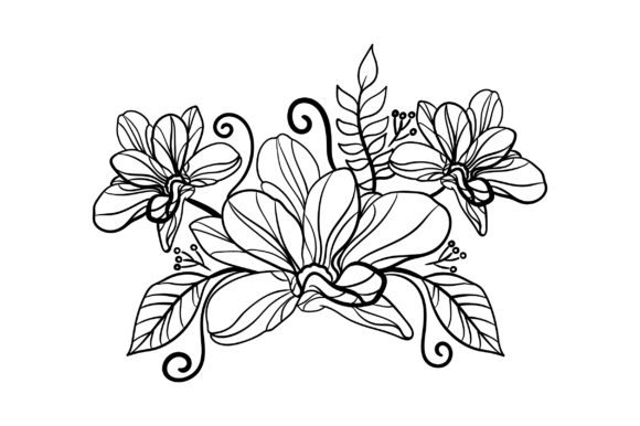 Flower Embellishment Outline - Light Colors Spring Craft Cut File By Creative Fabrica Crafts - Image 2