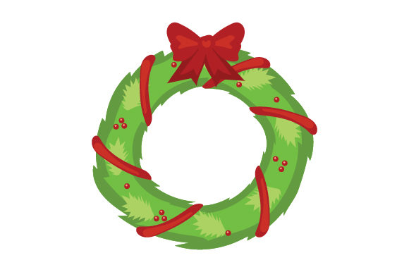 Download Free Christmas Wreath With Bow Svg Cut File By Creative Fabrica SVG Cut Files