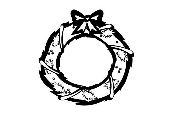 Download Free Christmas Wreath With Bow Svg Cut File By Creative Fabrica for Cricut Explore, Silhouette and other cutting machines.