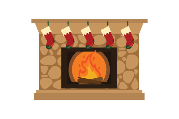 Stockings Hung on Fireplace Christmas Craft Cut File By Creative Fabrica Crafts - Image 1