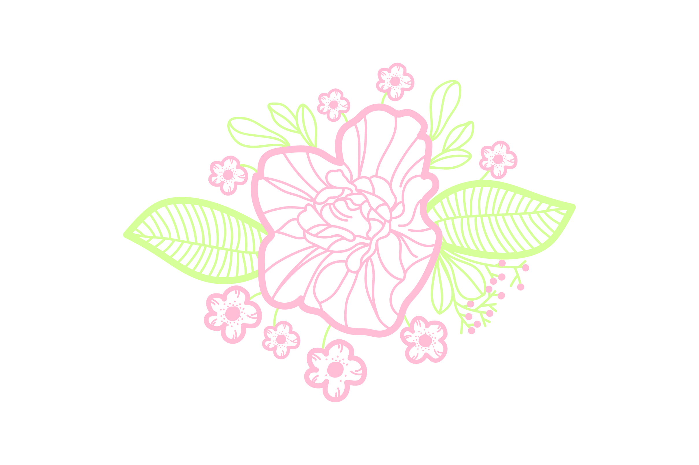 Download Free Purple Flowers Embellishment Outline Light Colors Svg Cut File for Cricut Explore, Silhouette and other cutting machines.