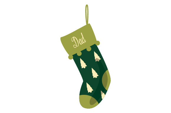 Download Free Christmas Stocking For Dad Svg Cut File By Creative Fabrica for Cricut Explore, Silhouette and other cutting machines.
