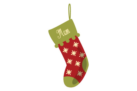 Download Free Christmas Stocking For Mom Svg Cut File By Creative Fabrica for Cricut Explore, Silhouette and other cutting machines.