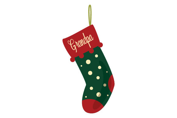 Download Free Christmas Stocking For Grandpa Svg Cut File By Creative Fabrica for Cricut Explore, Silhouette and other cutting machines.