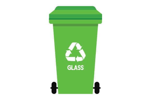 Download Free Recycling Bin Glass Svg Cut File By Creative Fabrica Crafts for Cricut Explore, Silhouette and other cutting machines.