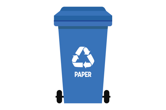 Download Free Recycling Bin Paper Svg Cut File By Creative Fabrica Crafts for Cricut Explore, Silhouette and other cutting machines.